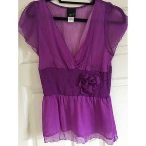 Aryn K Purple Blouse